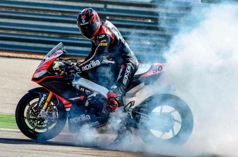 Sylvain Guintoli Burn Out After Race WSBK 2014
